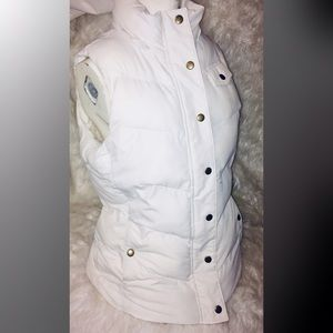 Banana republic Winter puffy Quilted vest in white